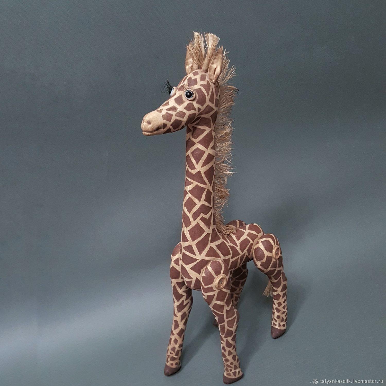 Куклы и игрушки ручной работы. Ярмарка Мастеров - ручная работа. Купить Жираф. Handmade. Жираф, кофе, синтепон