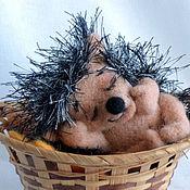 Куклы и игрушки ручной работы. Ярмарка Мастеров - ручная работа Спящий ёжик. Handmade.