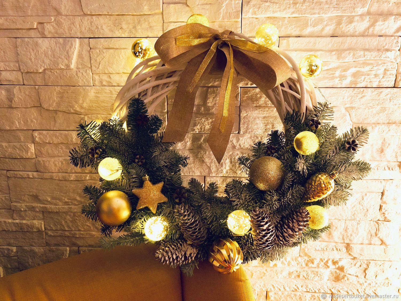 Венки: рождественский венок, Интерьерные венки, Москва,  Фото №1