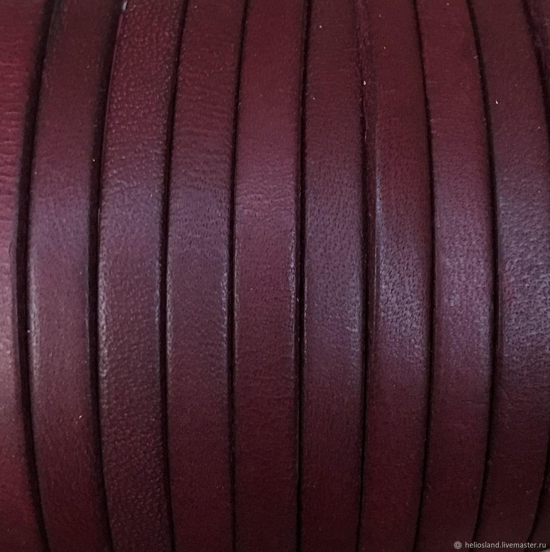 купить кожаный шнур плоский