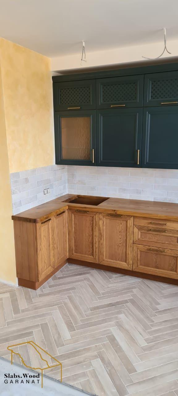 Кухня из массива дерева, Кухонная мебель, Москва,  Фото №1