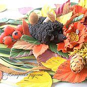 """Украшения ручной работы. Ярмарка Мастеров - ручная работа Колье """"Осень в лесу"""" Украшения изкожи.. Handmade."""