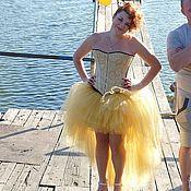Одежда ручной работы. Ярмарка Мастеров - ручная работа Юбка со шлейфом Gold. Handmade.