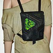 Субкультуры handmade. Livemaster - original item Backpack leather . Biohazard .. Handmade.