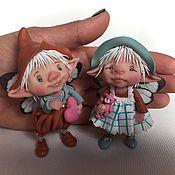 Куклы и игрушки ручной работы. Ярмарка Мастеров - ручная работа Матильда и Уильям. Handmade.