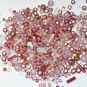 Материалы для творчества handmade. Livemaster - original item 10g Toho MIX 3217 crimson gold Japanese TOHO beads. Handmade.