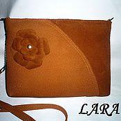 Сумки и аксессуары handmade. Livemaster - original item Leather clutch    red