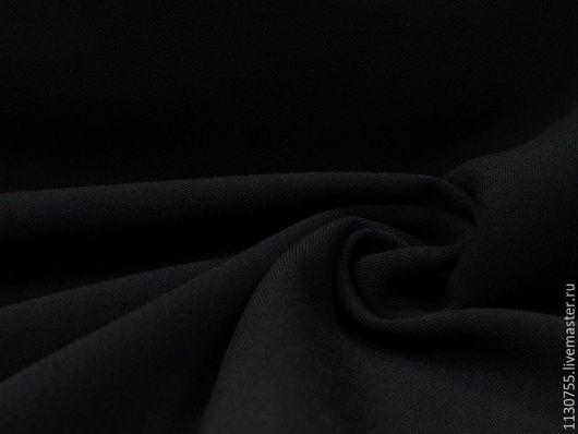 Шитье ручной работы. Ярмарка Мастеров - ручная работа. Купить ткань костюмная вискоза стрейч черный. Handmade. Черный