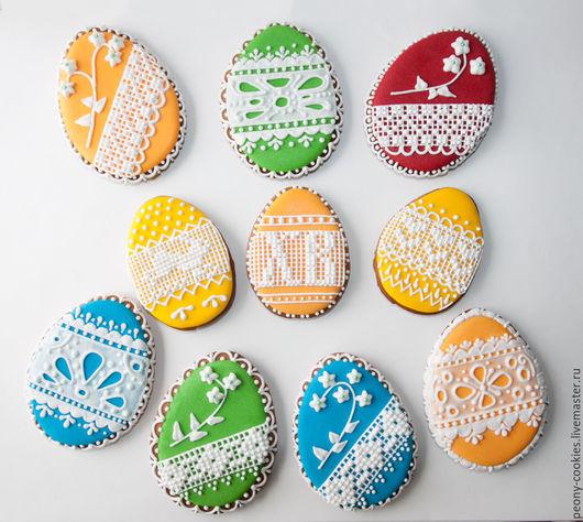 Кулинарные сувениры ручной работы. Ярмарка Мастеров - ручная работа. Купить Пряник Яйца пасхальные разные. Handmade. Ярко-красный