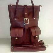 Сумки и аксессуары handmade. Livemaster - original item Backpack-bag leather urban. Handmade.