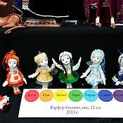 """Куклы и игрушки ручной работы. Ярмарка Мастеров - ручная работа Коллекция фарфоровых кукол """"Радужное настроение"""". Зара(зелёный). Handmade."""