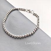 Украшения handmade. Livemaster - original item Bracelet Track with small metal beads on chain. Handmade.