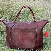 Сумки и аксессуары handmade. Livemaster - original item Hand made leather bag. Art 122 Travel. Bordo. Handmade.