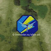 Субкультуры handmade. Livemaster - original item patch Stalker - amber. Handmade.
