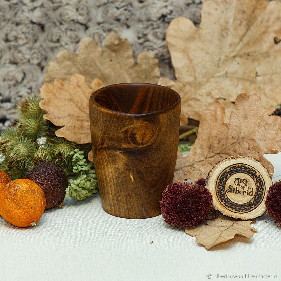 Стакан деревянный из Пихты Сибирской 10,5 см #C19, Стаканы, Новокузнецк,  Фото №1
