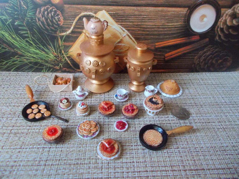 """Кукольная миниатюра 1:12, """"Широка масленица"""", блины, Кукольная еда, Псков,  Фото №1"""