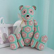 Куклы и игрушки ручной работы. Ярмарка Мастеров - ручная работа цветочный мишка. Handmade.