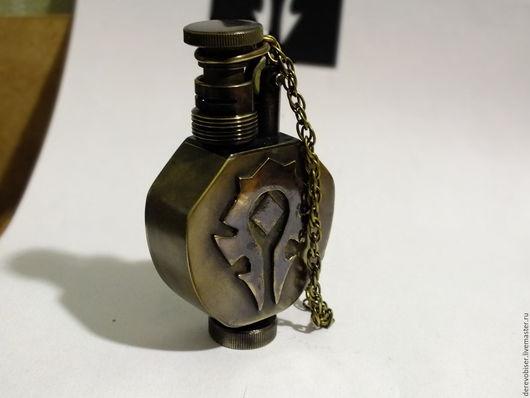 """Подарки для мужчин, ручной работы. Ярмарка Мастеров - ручная работа. Купить Зажигалка бензиновая World of Warcraft """"Орда"""". Handmade."""