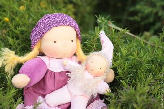 Вальдорфские куклы Люся с Бусинкой 31 и 15 см .Julia Solarrain (SolarDolls) Ярмарка Мастеров
