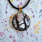 handmade. Livemaster - original item Pendant: Early Spring Morning 2, hot enamel, brass. Handmade.