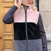 Одежда handmade. Livemaster - original item Women`s winter jacket, fur jacket, fur coat, winter quilted coat. Handmade.
