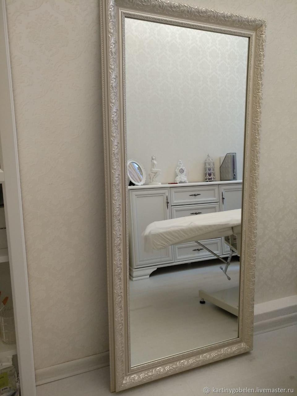 Зеркало большое в светлой раме, Зеркала, Москва,  Фото №1