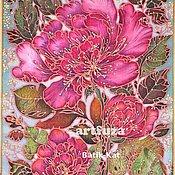 Картины и панно ручной работы. Ярмарка Мастеров - ручная работа Розовый пион. Handmade.
