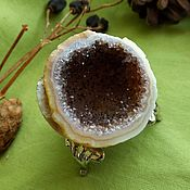 Материалы для творчества handmade. Livemaster - original item Geode of amethyst carnelian on the base.Your booking. Handmade.