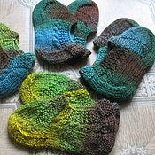 Обувь ручной работы. Ярмарка Мастеров - ручная работа Тапочки зимние домашние - теплые следочки чуни шерстяные носочки носки. Handmade.
