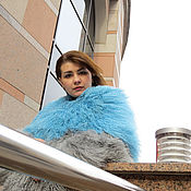 Одежда handmade. Livemaster - original item Lama. Coat. The coat of the llama. Blue coat. Coat. Handmade.