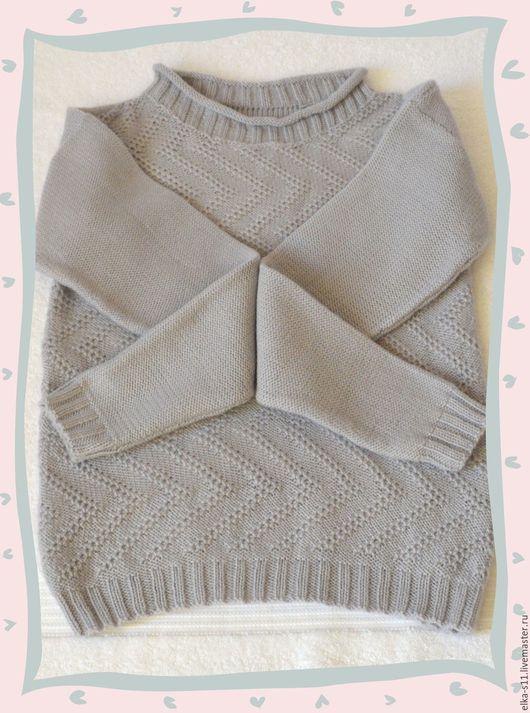 Одежда для девочек, ручной работы. Ярмарка Мастеров - ручная работа. Купить Джемпер детский вязаный. Handmade. Серый
