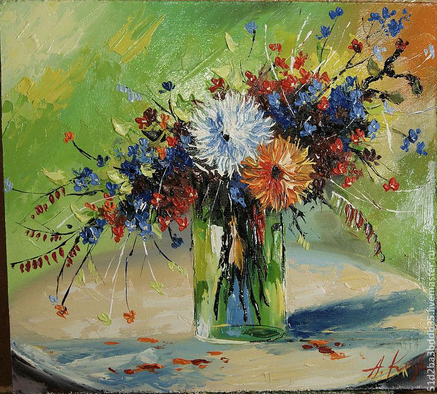 Картины цветов ручной работы. Ярмарка Мастеров - ручная работа. Купить Летний фестиваль. Handmade. Цветы, картина в подарок