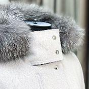 Одежда handmade. Livemaster - original item Cashmere coat with fur. Handmade.
