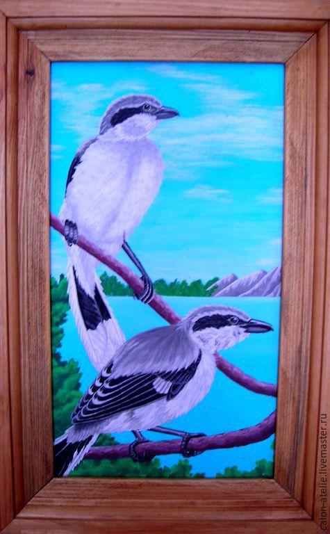 """Животные ручной работы. Ярмарка Мастеров - ручная работа. Купить картина маслом""""птицы"""". Handmade. Разноцветный, картина маслом, картина для интерьера"""