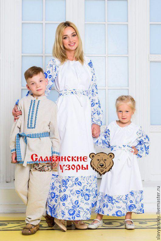 """Одежда для девочек, ручной работы. Ярмарка Мастеров - ручная работа. Купить Платье """"Вдохновение"""". Handmade. Белый, детей, family look"""