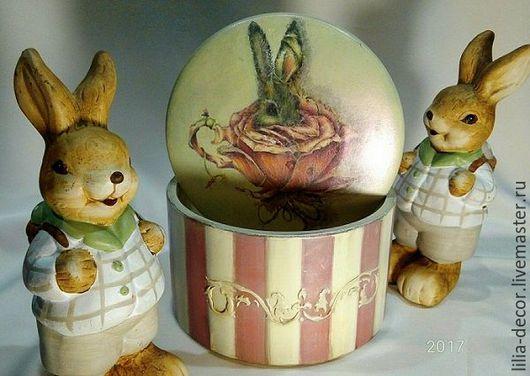 """Шкатулки ручной работы. Ярмарка Мастеров - ручная работа. Купить Шкатулка """"Розовый кролик"""". Handmade. Бледно-розовый, шкатулочка"""