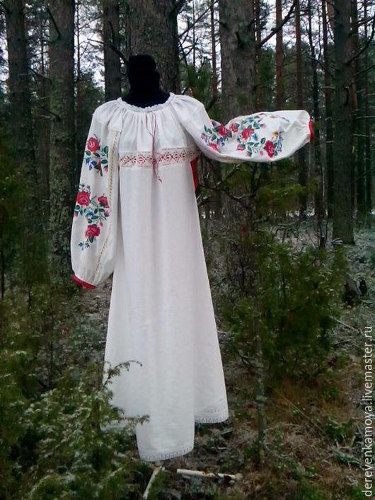 Этническая одежда ручной работы. Ярмарка Мастеров - ручная работа. Купить рубашка нарядная женская. Handmade. Белый, вышивка ручная