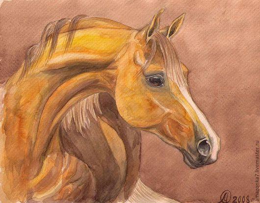 Животные ручной работы. Ярмарка Мастеров - ручная работа. Купить Рыжая лошадь. Handmade. Оранжевый, лошадь, рыжий, ахалтекинец