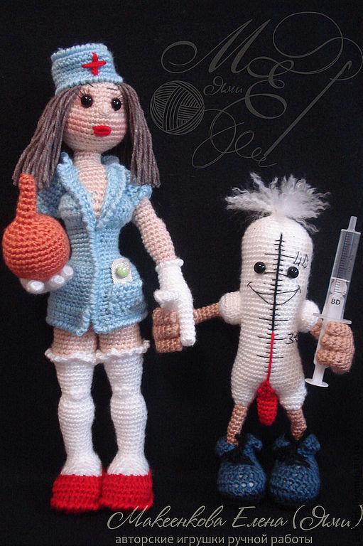 Схема вязания куклы медсестры