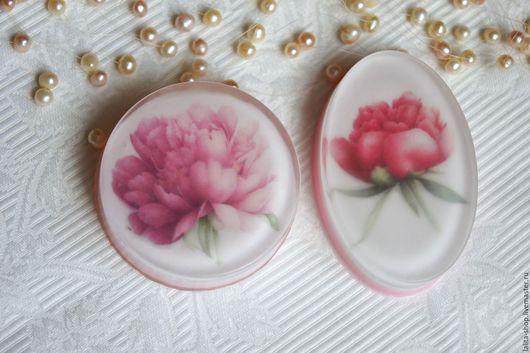 """Мыло ручной работы. Ярмарка Мастеров - ручная работа. Купить Мыло """"Пион"""". Handmade. Розовый, пион, мыльная основа Англия"""