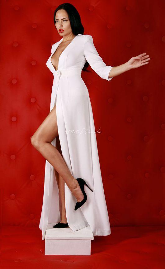 Платья ручной работы. Ярмарка Мастеров - ручная работа. Купить Платье в пол 00171. Handmade. Белый, в пол, blind