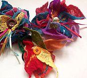 Украшения ручной работы. Ярмарка Мастеров - ручная работа Валяные броши цветы большие. Handmade.