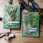 Открытки handmade. Livemaster - original item Handmade postcard,c ECO-materials(dried flowers), mixed Media. Handmade.
