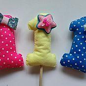 Подарки к праздникам ручной работы. Ярмарка Мастеров - ручная работа Топпер для торта из фетра. Handmade.