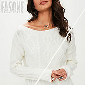 Одежда handmade. Livemaster - original item Jerseys: Women`s sweater white with braids. Handmade.