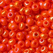 Материалы для творчества handmade. Livemaster - original item 10 grams of 10/0 seed Beads, Czech Preciosa 94140 Premium orange nephros raduz. Handmade.