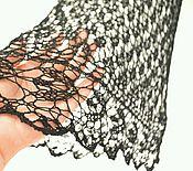 """Одежда ручной работы. Ярмарка Мастеров - ручная работа Ажурный топ """"Butterfly"""" черный. Handmade."""