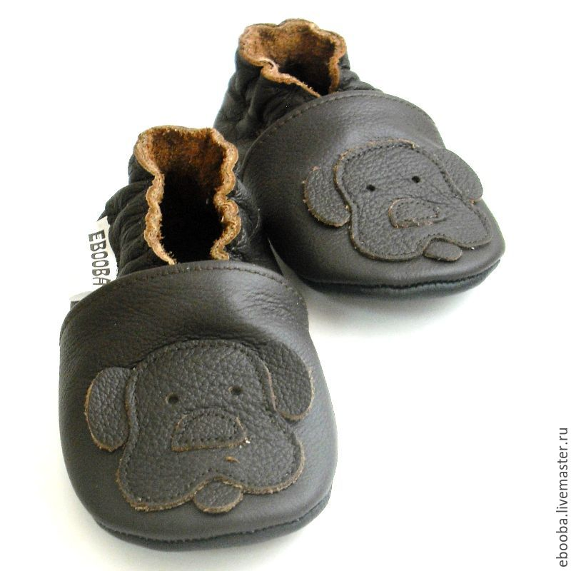 8d07e1ced0d9b soft sole baby shoes leather handmade infant gift kids children doggie dark  brown ebooba ...