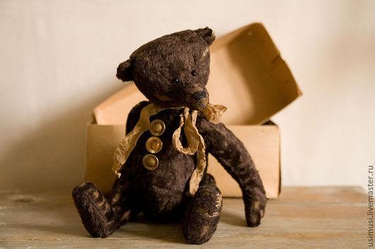 Мишки Тедди ручной работы. Ярмарка Мастеров - ручная работа. Купить Старина Фрэнки. Handmade. Коричневый, тедди мальчик