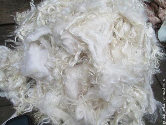 Вязание ручной работы. Ярмарка Мастеров - ручная работа. Купить Пух козий Белый мытый. Handmade. Белый, пряжа